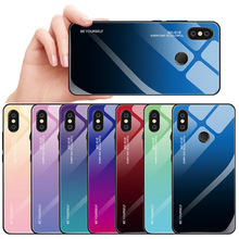 Glass Phone Case For Samsung S9 S8 S10 A7 Plus Gradient Color 2018 A9 Cover Accessories