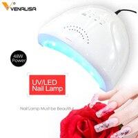 #610 Venalisa 48W SUN LED UV New Nail Lamp for Nail Polish Drying Infrared Sensors Nail Lamp Cable Nail Dryer