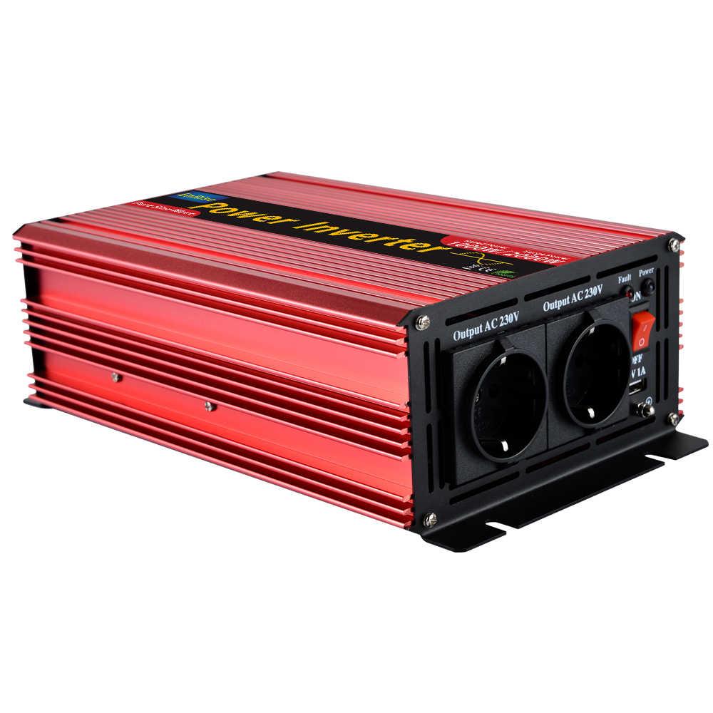 Invertör 12v 220v 1500w 3000w tepe saf sinüs dalga güç inverteri ev uygulamaları için