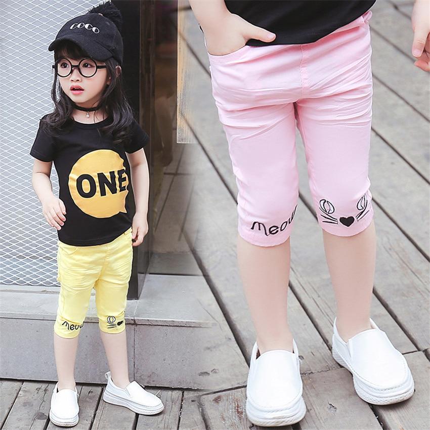 2-8 jaar kinderen meisjes capri leggings zomer meisje broek - Kinderkleding - Foto 1