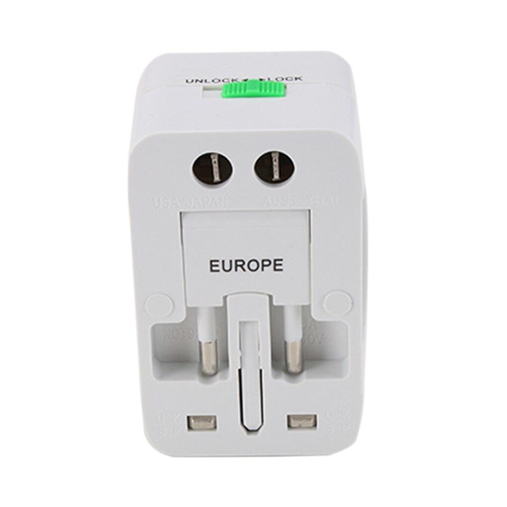цена на Multifunction Dual Two Ports USB Universal Travel Adaptor Socket US/UK/AU/EU Plug All in one AC Power Converter