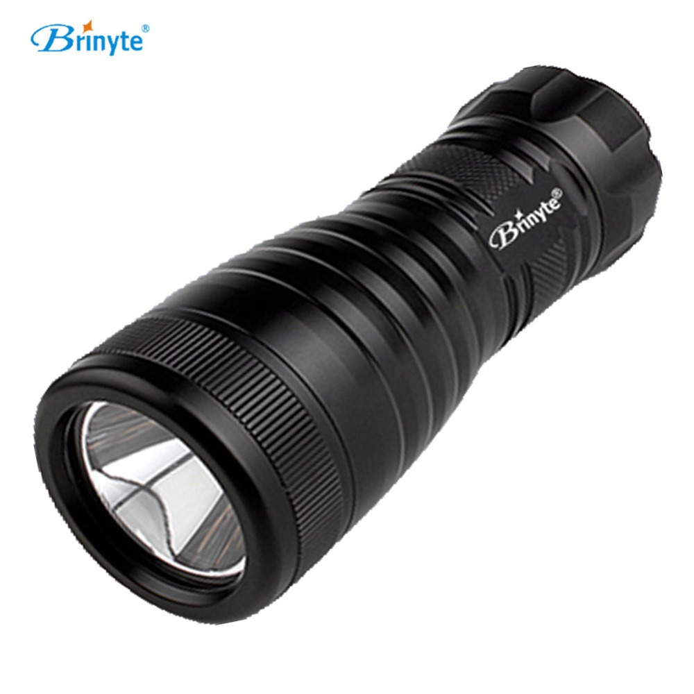 Brinyte DIV03 Mini Scuba Diving Torch Cree XM-L L2 Underwater Professional LED Scuba Diving Light Dive Flashlight aa Battery brinyte div10w led canister video light cree xml2 4500lm led scuba diving torch flashlight 200m underwater lamp