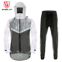WHEEL UP Breathable MTB Mountain Bike Cycling Rain Jersey Clothing Waterproof Anti-Sweat MTB Bicycle Rain coat Jacket&pants