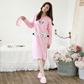 M-2XL Lady Casual Nightgown Comfortable Cartoon Night dress Girl's Underwear Nightdress Sleep Lounge Womens cotton Nightwear