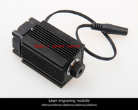 300mW Blue Violet Laser Module 405nm Laser Head Industrial Modules Can Work Long Hours Focusing Engraving