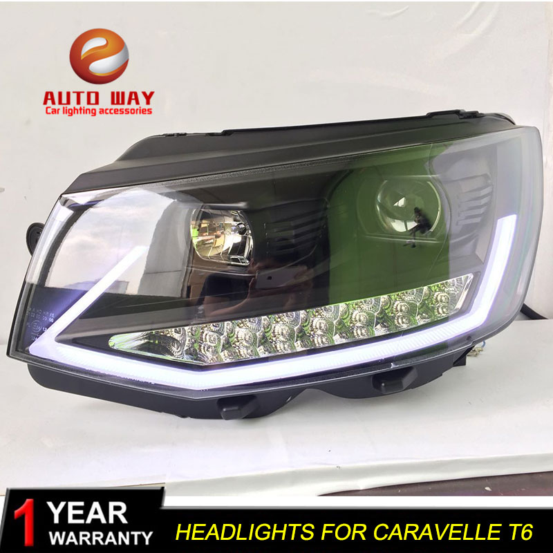 Car Styling Head Lamp case for VW Caravelle T6 Headlights 2017 2018 LED Headlight DRL Lens Double Beam Bi-Xenon HID hireno headlamp for 2016 hyundai elantra headlight assembly led drl angel lens double beam hid xenon 2pcs