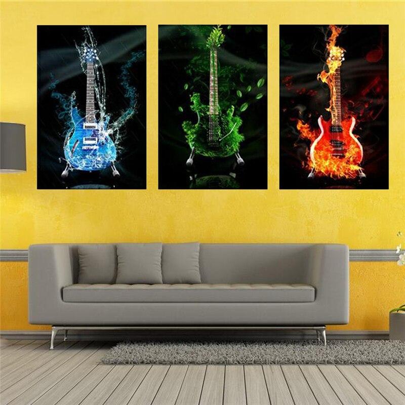 Unframed Modern Kitchen Canvas Paintings Guitar Wall Art Oil ...