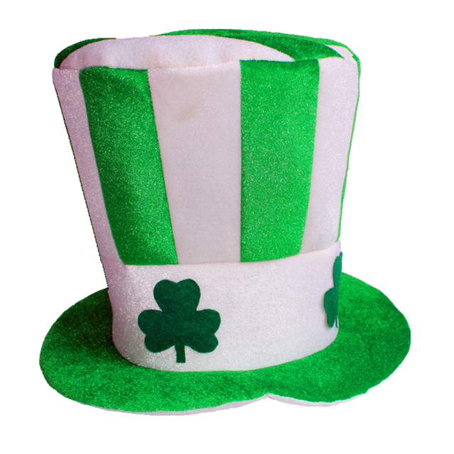 Unisex Adult Dress Up Masquerade Top Hat Irish Hat St. Patricks Day Party  Costume Stovepipe 53935b6134e3
