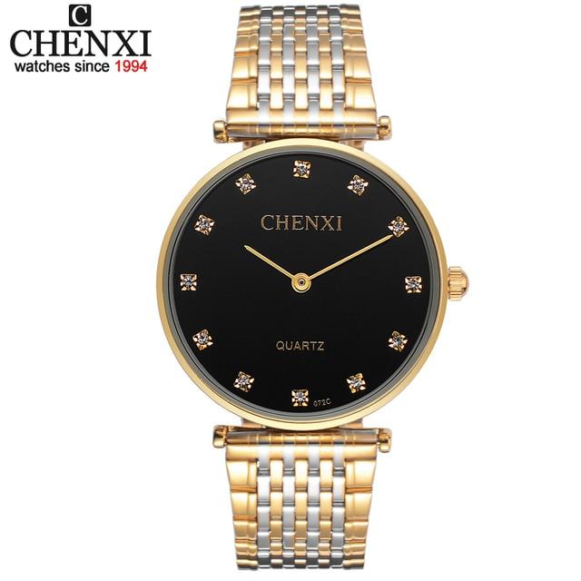 56b80675c1f Ultrafinos relógios Amantes Strass relógio para homens de aço inoxidável  das Mulheres Dos Homens de Pulso