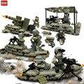 Новое Прибытие Мини Целевой Джунгли Commando Рисунках Оружия Строительные Блоки Военный Армейский Лагерь Модель Игрушечные Кирпичики Совместимы Кукла