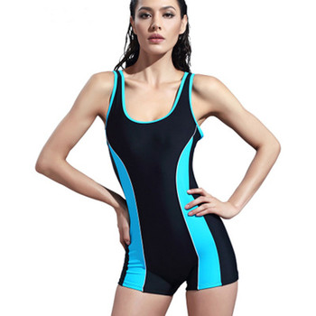 Sky Blue Women Surf Swimwear One Piece Short Sleeve Leotard Swimsuit for Diving Swimming Suit Rashguard Wetsuits M09