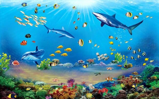 Underwater wallpaper for bedroom for Mural hidupan laut