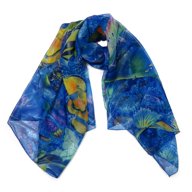 Large Female   Scarf   For Women Stole Blue Long Bandana Headscarf Thin Soft 2017 Spring Ladies Shawls And   Scarves     Wraps   Cachecol