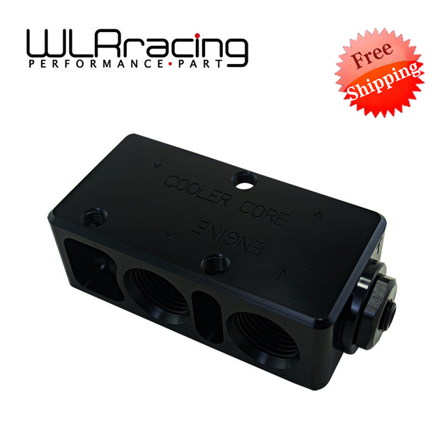 WLRING Free shipping- Oil Filter Sandwich Adaptor  High quality Oil filter remote block with thermostat 1xAN8 4xAN10 ORB FEMALE wlring oil filter sandwich adaptor for high quality oil filter remote block with thermostat 1xan8 4xan10 orb female wlr6744