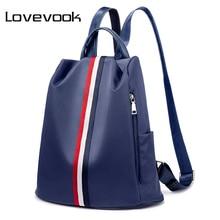 LOVEVOOK women waterproof oxford backpack anti theft female