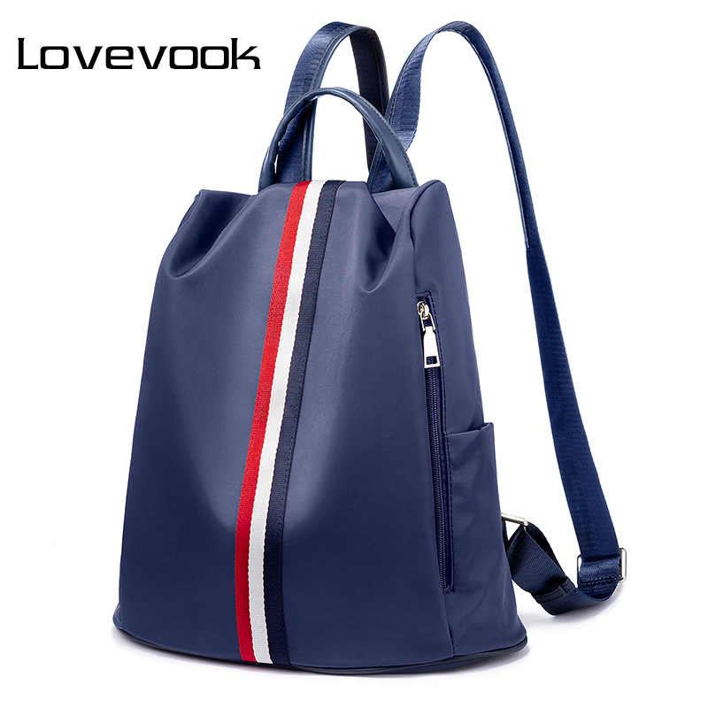 LOVEVOOK נשים עמיד למים אוקספורד תרמיל אנטי גניבה נקבה תיקי בית ספר נער נסיעות חזרה שקיות חבילת נשים 2019 15 אינץ