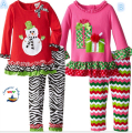 Retail   The new children suit New Year Christmas two-piece long-sleeved T-shirt + + pants