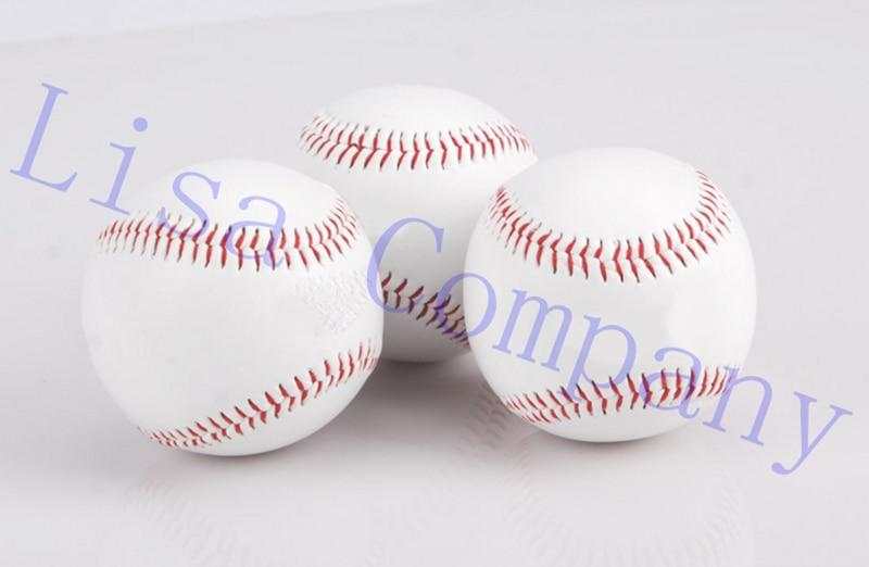 new white diameter 7cm hand sewing soft texture solid baseball practice training baseball balls sport team game