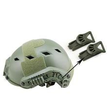 2 шт./компл. 19 мм военный страйкбол Пейнтбол шлем адаптер 19 мм очки ночного видения вращающийся зажимной рельс адаптер подходит для быстрого шлема