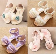 2016 nouveaux enfants sandales filles sandales d'été de mode enfants sandlas mignon perle conception princesse chaussures filles chaussures 088