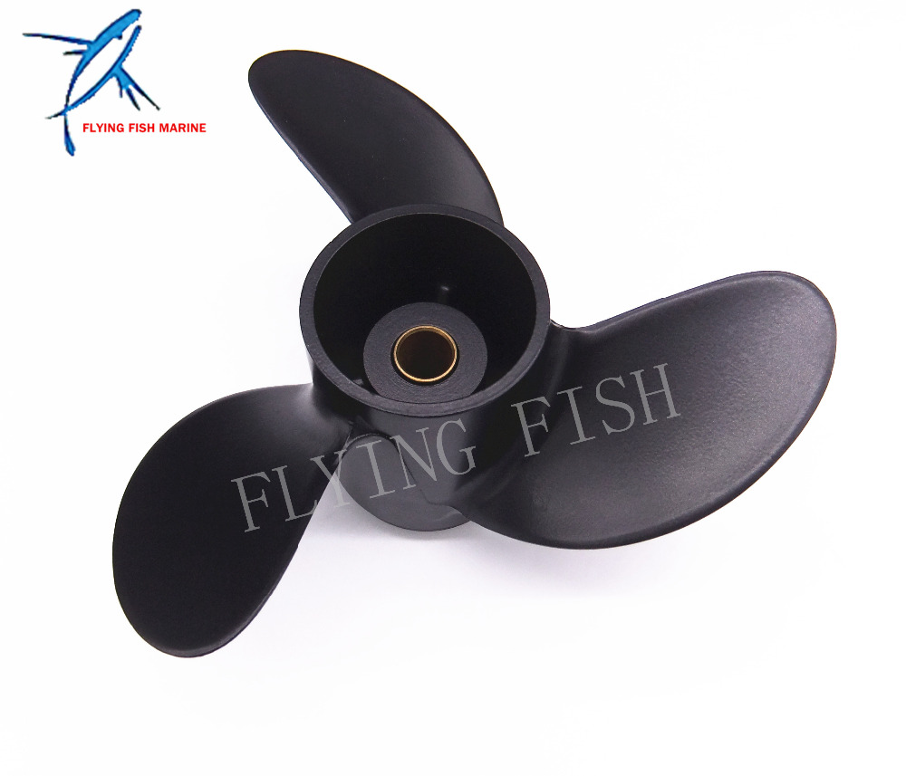 7.8x8 Boat Engine Propeller for Mercury 2-Stroke 5HP / Tohatsu 4HP 5HP 6HP Outboard Motor electric outboard engine fishing boat propeller with outboard engine 12v 684w1750 rotationl speed dc motor