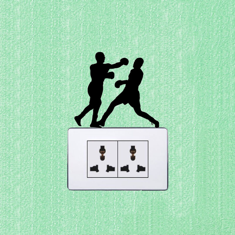 WANGZHIMING Got Boxing Fashion Sport Swtich Stickers Vinyl Wall Decals Black 7SS0560