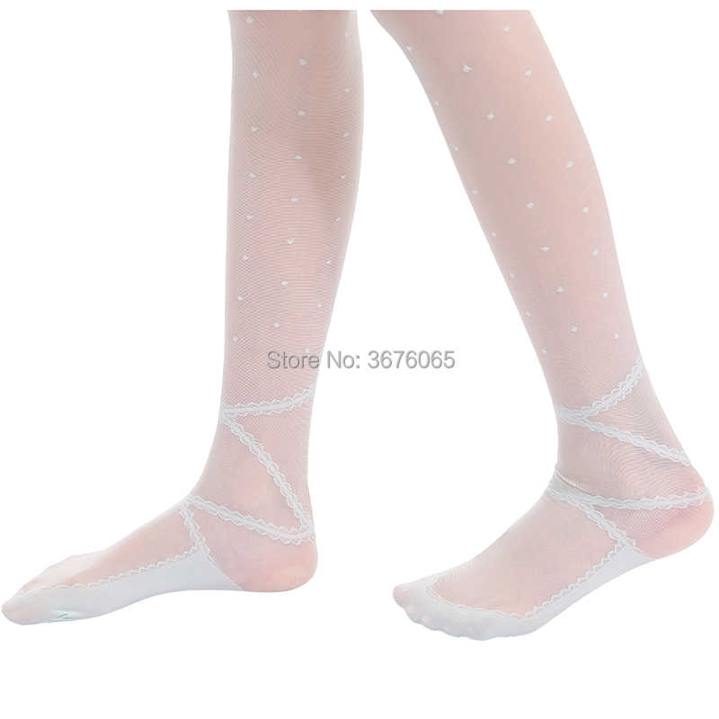 d6c8b64b53a ... Summer thin tights for baby girls lovely ballet princess pantyhose  girls child kids little dot embroidery