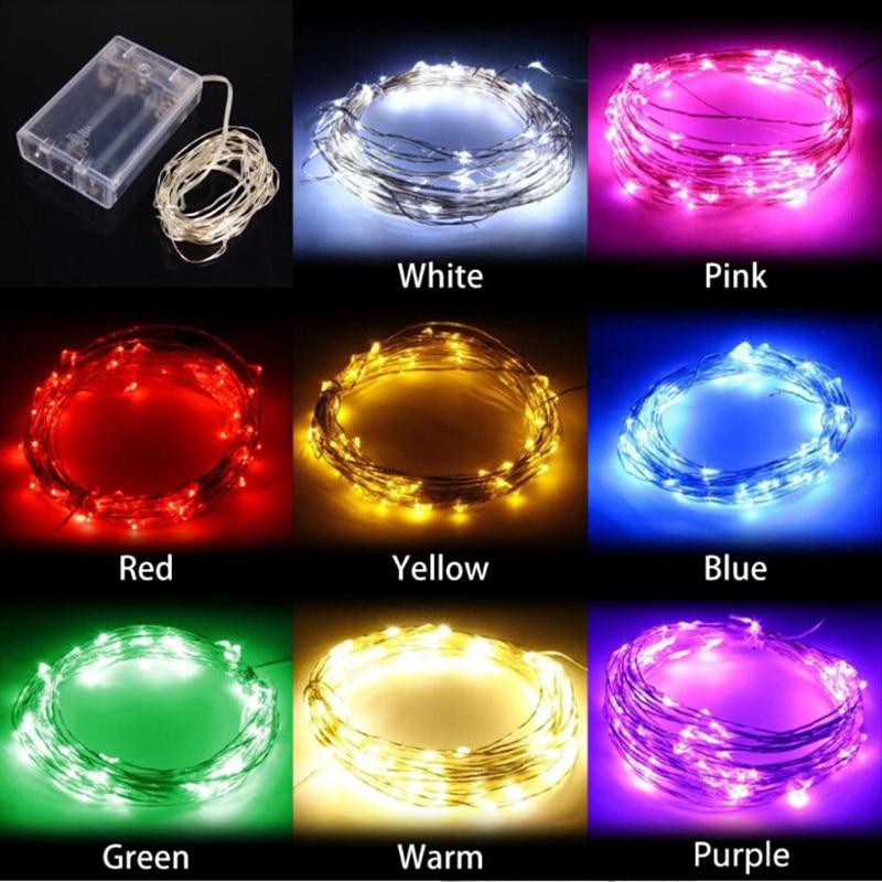 rojo Cadena de Luces de Hadas Micro LED