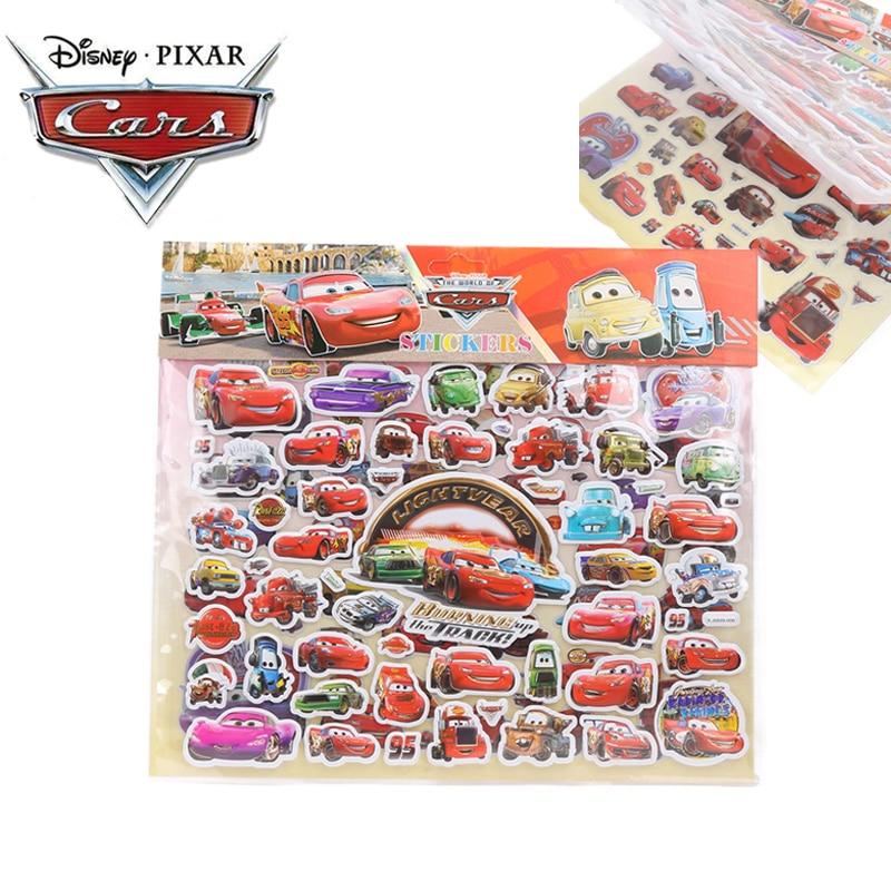 Disney Pixar Cars 3 Toys Book Stickers Lightning McQueen Mater Jackson Black Storm Ramirez PVC Waterproof Sticker