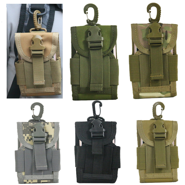 TAK YIYING 4.5 Inch Universal Army Tactical Bag For Mobile Phone Hook Cover Pouch Case Molle Belt Cell Phone Pouches