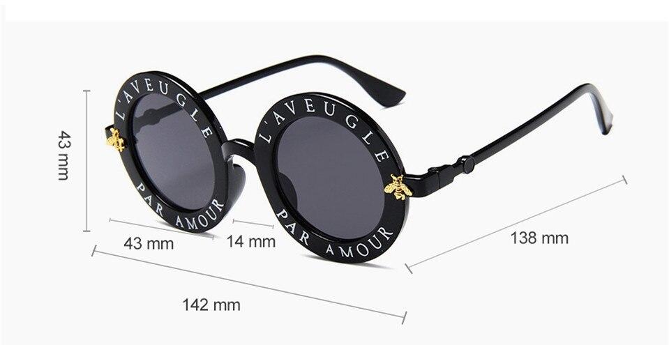 29ec5f9ac6 ZXRCYYL Nuevas Gafas De Sol Pequeñas Abejas Gafas De Sol De Montura ...