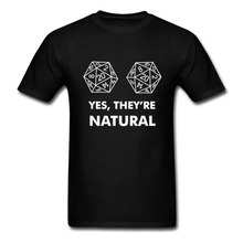 Повседневные футболки с музыкальной графикой, рубашки с круглым вырезом, рабочая одежда, D20 Yes They're Natural Men, 100% хлопок, принт с коротким рукавом