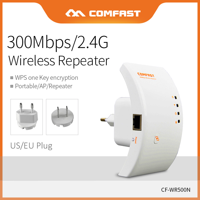 Comfast 300Mbps Wireless Router Portable Wifi Repeater 2dBi Antenna Wifi Transmission Rate Extender Signal Booster CF-WR500N