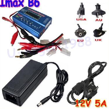 IMAX B6 цифровой RC Lipo NiMh батарея баланс зарядное устройство+ AC мощность 12 в 5A адаптер Прямая поставка - Цвет: B6 Tamiya and adapte