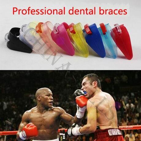 50pcs sport Support karate kickboxing dental braces basketball boxing sports mouthguard sanda Teeth dental braces mouth guard