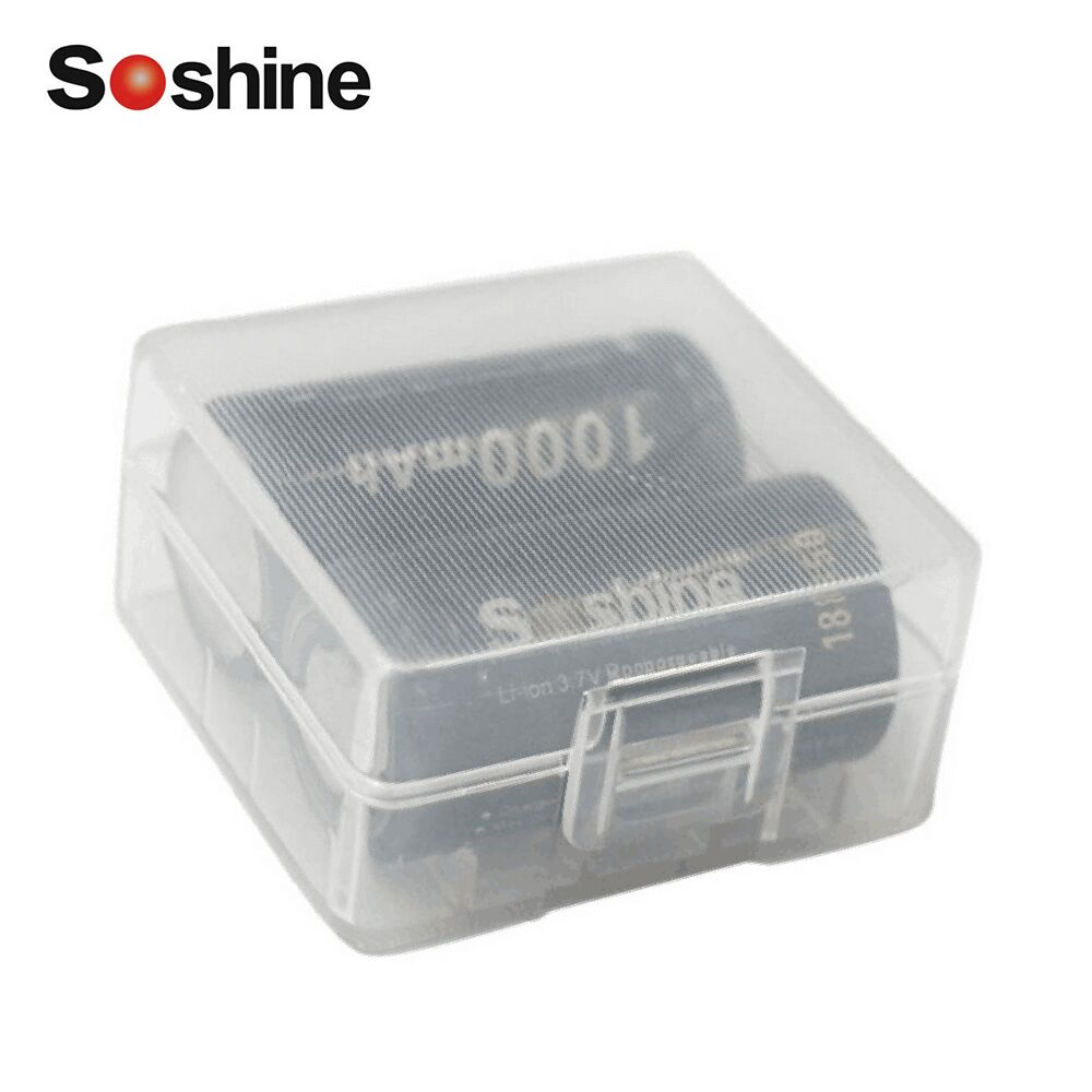 цена 2PCS/set Soshine 18350 battery 1000mAh 3.7V Li-ion Rechargeable Batteries + battery protective storage box