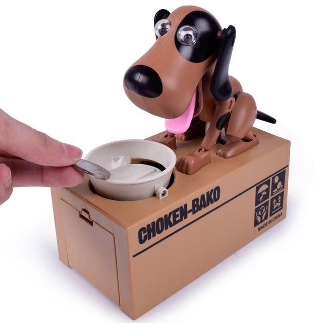 Ребенок головоломки электрическое зондирование собака игрушки качели творческий ест деньги детей подарок для детей игрушка новизны марка BabyShining