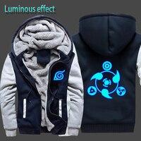 Luminous Naruto Hoodie Jacket Cool Hoodies Men Brand Male Long Sleeve Hoodie Sweatshirt Tracksuit Cotton Fleece