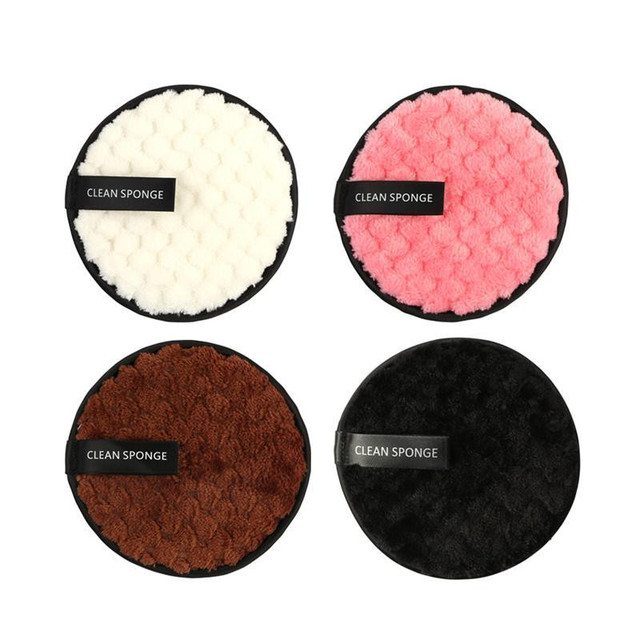 4Pcs Microfiber Cloth Pads Facial Makeup Remover Puff Face Cleansing Towel Reusable Cotton Double Layer Nail Art Cleaning Wipe 2