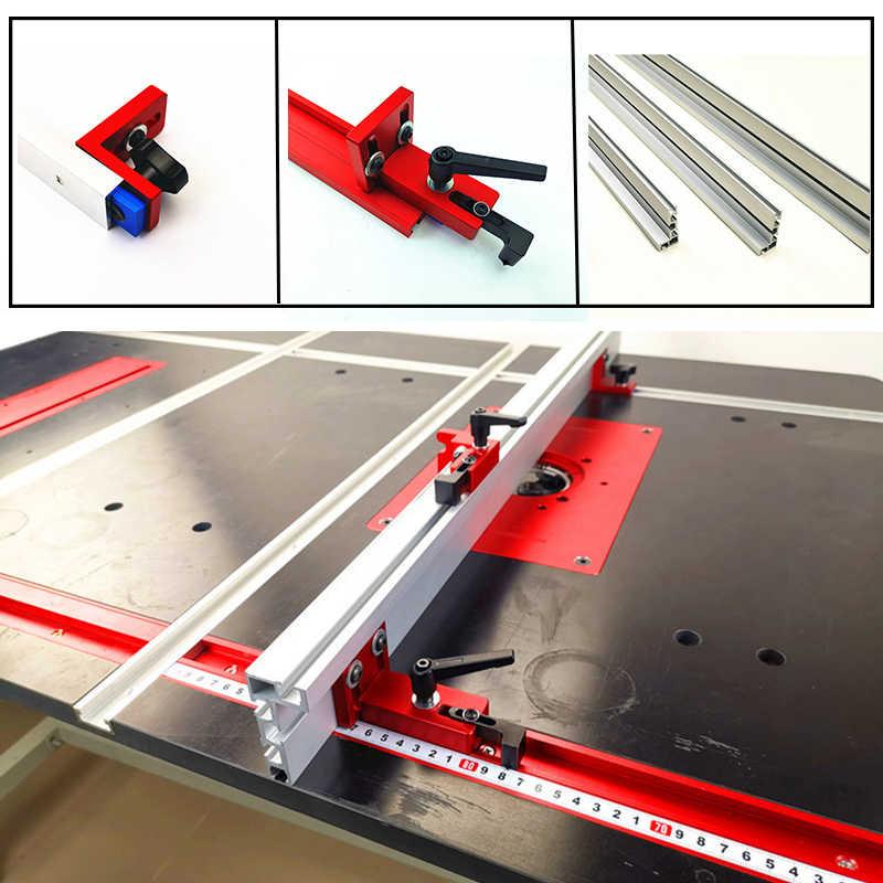 Фото 600/800 мм алюминиевый профиль 75 высота с Т треками деревообрабатывающий верстак DIY