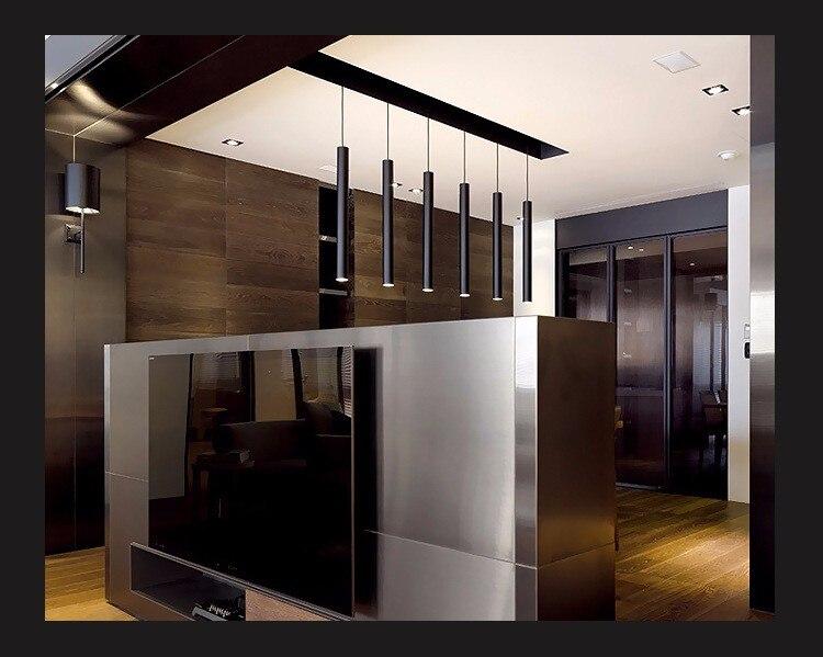 Cilindro di illuminazione a sospensione lights bar per bar cucina