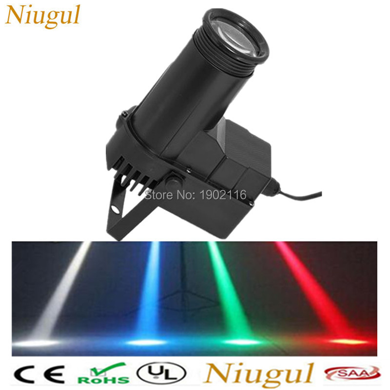 Niugul Free shipping 10W RGB change color Narrow-Beam Pinspot Stage Light LED Wash Beam Spotlight Projection Lighting ktv lights ultrathin led flood light 200w ac85 265v waterproof ip65 floodlight spotlight outdoor lighting free shipping