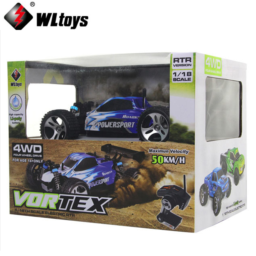 1 set Wltoys A959 1:18 remote control car Off-road Racing Car High Speed 4WD 50km/h Stunt SUV Toy
