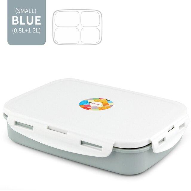 Blue 4 Compartment Cheap bento boxes japanese bento 5c6479e2ed37e