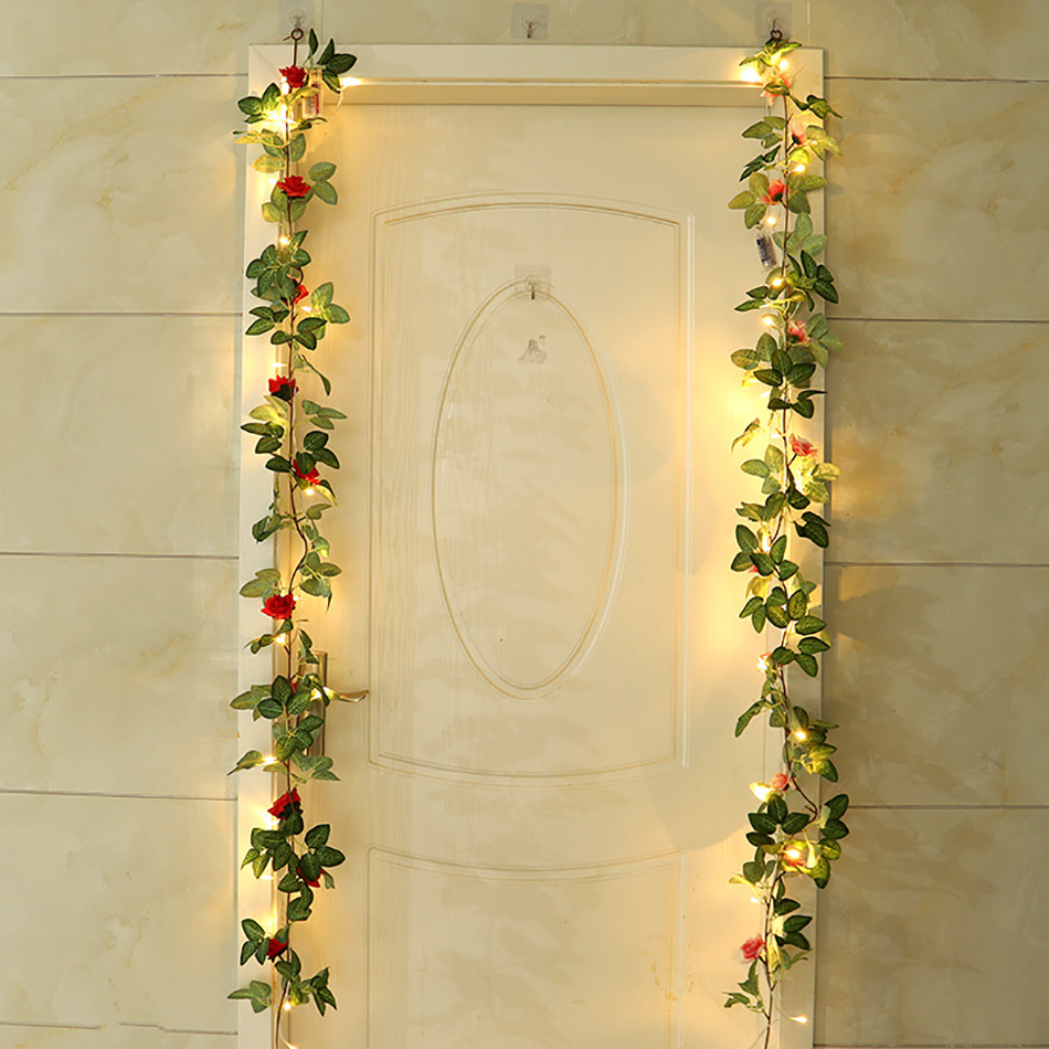 Aliexpress.com : Buy Romantic Rose Garland With Led Light ...