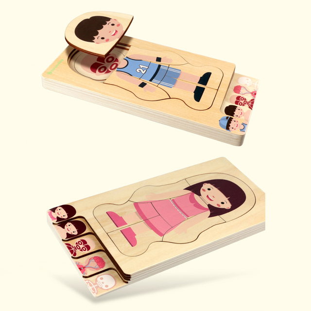 Human Body Wooden Puzzle