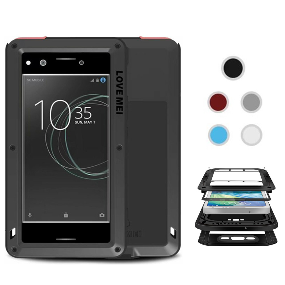 huge selection of 7a0ff eb2a7 US $29.99 |Love Mei Life Waterproof Metal Aluminum Armor Hard Case For Sony  Xperia XZ Premium Cover Shockproof Phone Cases Shell on Aliexpress.com | ...