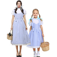 2019 The Wizard of OZ Women Dorothy Gale Blue Dress DG girl Halloween Cospaly Costume with hair bands Drama Dorothy dress S XXXL