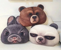 Plush doll 1pc 49cm simulation cartoon funny brown bear rabbit panda pillow home decoration stuffed toy creative gift for baby
