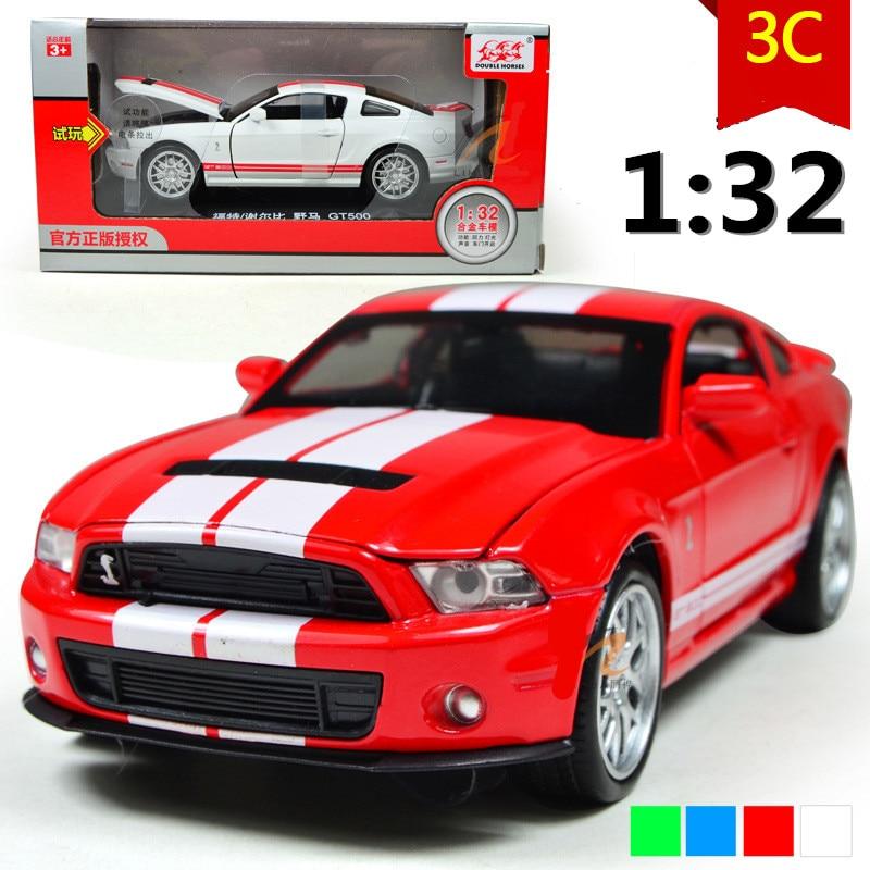 Mustang GT500 132 modèle de voiture en alliage son et lumière retour à puissance modèles de voiture, jouets pour enfants, cadeaux, livraison gratuite